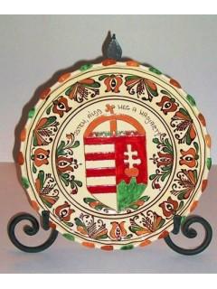 Korondi mintás címeres tányér - 30cm