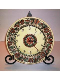 Korondi mintás tányér óra - színes