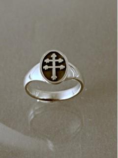 Kis kettős keresztes pecsétgyűrű