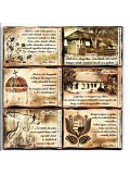 Fa Hűtőmágnes Wass Albert idézetekkel (6DB)