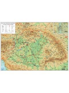 Magyar történeti emlékek a Kárpát-medencében térkép wandi 68X49