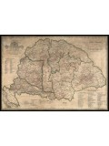 Magyarország borászati térképe-keretezett 100X70