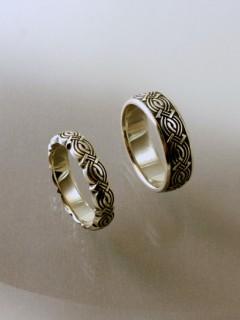 Domború végtelen csomó karikagyűrű
