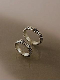 Kis szemdíszes karikagyűrű