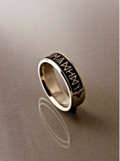 Egyedi rovás gyűrű