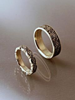 Végtelencsomó karikagyűrű