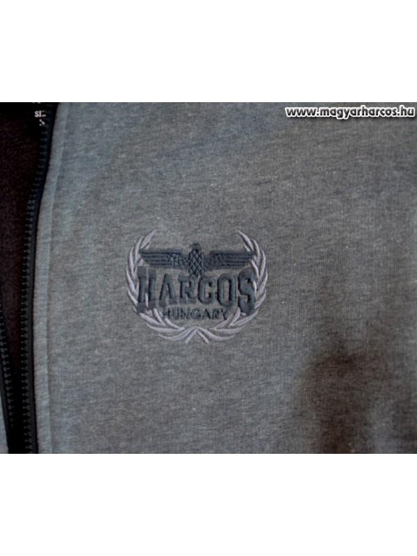 35a646bdac HARCOS kapucnis zipzáras bélelt, vastag pulóver PuZ14