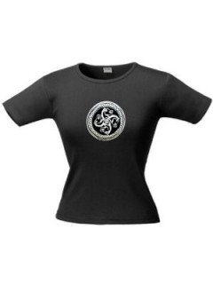 Ö.Z. - Női Szkíta Lóforgó mintás póló