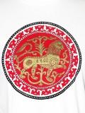 Ö.Z. - Esztergomi oroszlán póló - fehér piros