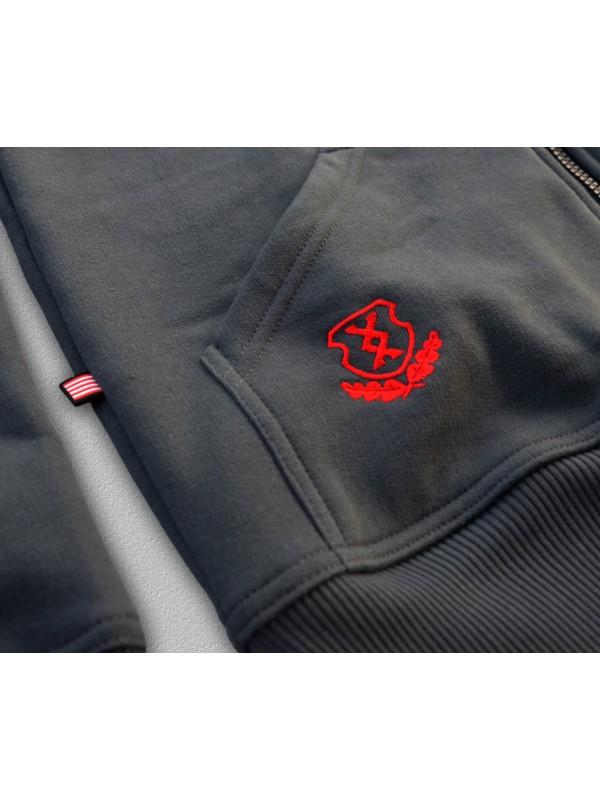 24ddf1c604 HARCOS kapucnis zipzáras pulóver - PuZ17
