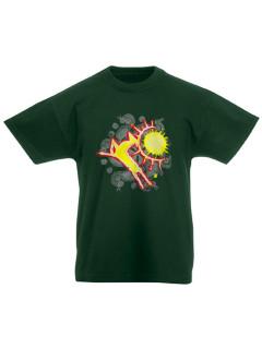 Gyerek Csodaszarvas póló - zöld