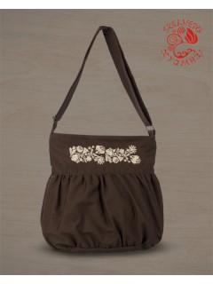 Szervető-kalocsai buggyos táska - barna-bézs