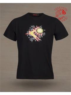 Szervető férfi póló - Csodaszarvas fekete