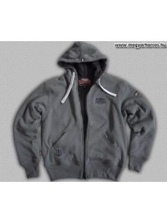 HARCOS kapucnis zipzáras bélelt, vastag pulóver PuZ14