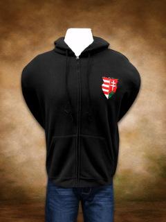 Címeres Turul kapucnis pulóver - cipzáras