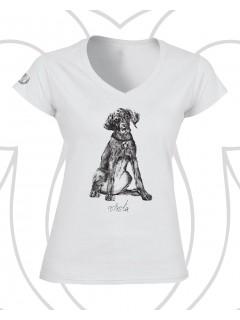 Vizsla női póló - fehér