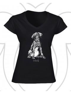 Vizsla női póló - fekete