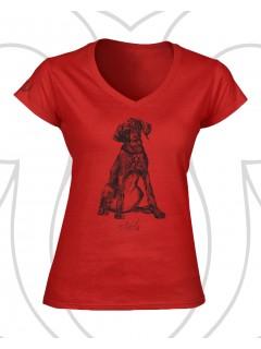 Vizsla női póló - piros