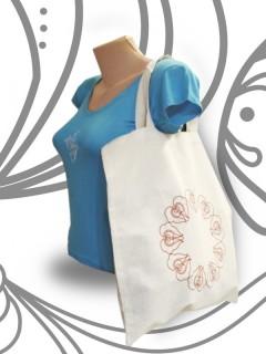 Tulipán mintás bevásárló táska - kör