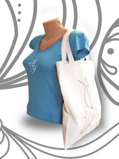 Tulipán mintás bevásárló táska