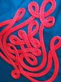 Zsinórozott Tornazsák - kék piros
