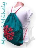 Zsinórozott Tornazsák - türkiz piros élet virága
