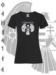 Ö.Z. - Kárpátia Bátraké a szerencse női póló - fekete fehér