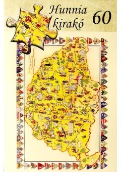 Nagy Magyarország kirakó - 60 darabos