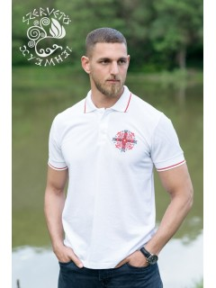 Napkereszt piké póló - fehér