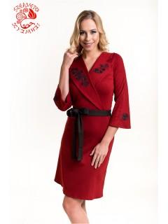 Anna ruha Szervető-matyó hímzéssel - piros-fekete